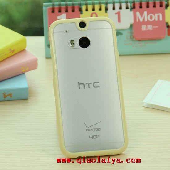 Htc One M8 Mignon 233 Tui En Silicone Transparent T 233 L 233 Phone