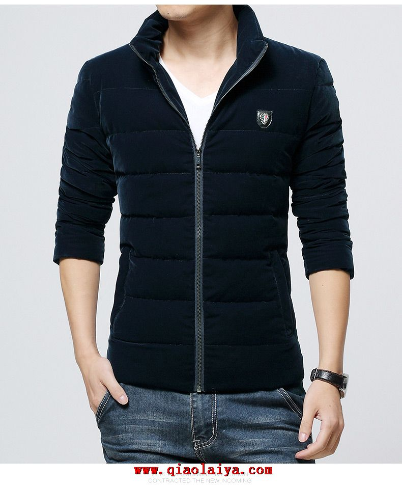 2014 mode manteau pas cher style slim pour homme down coat. Black Bedroom Furniture Sets. Home Design Ideas
