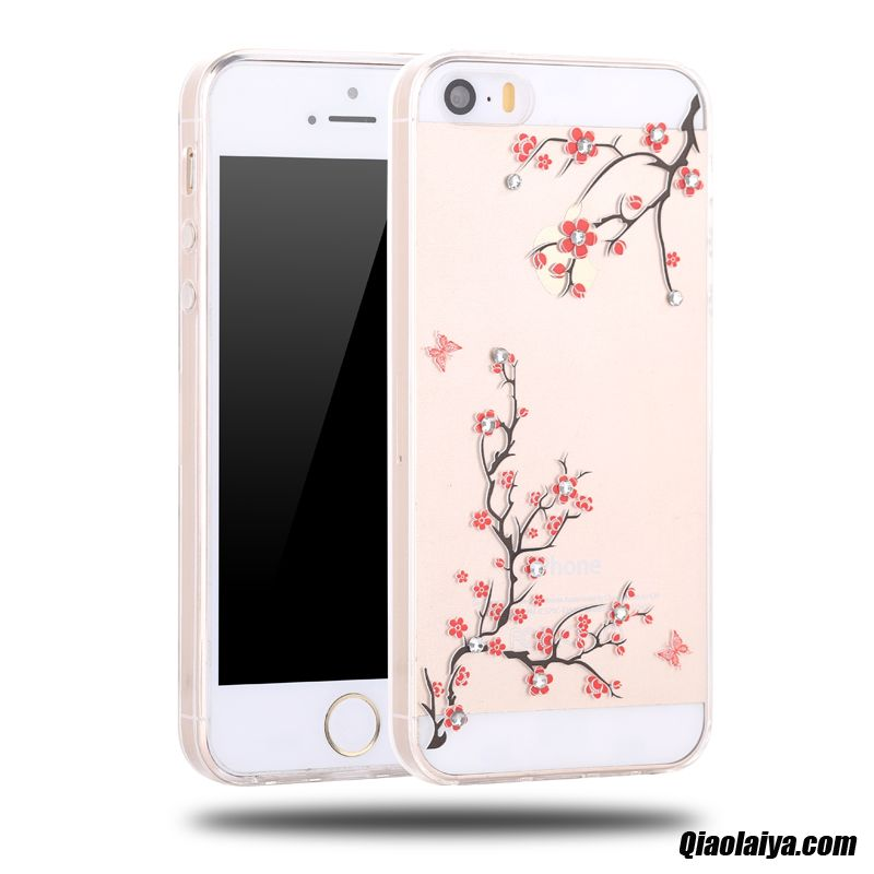 Coque iphone 5 5s silicone personnalisable d 39 or housse for Housse iphone 5 c