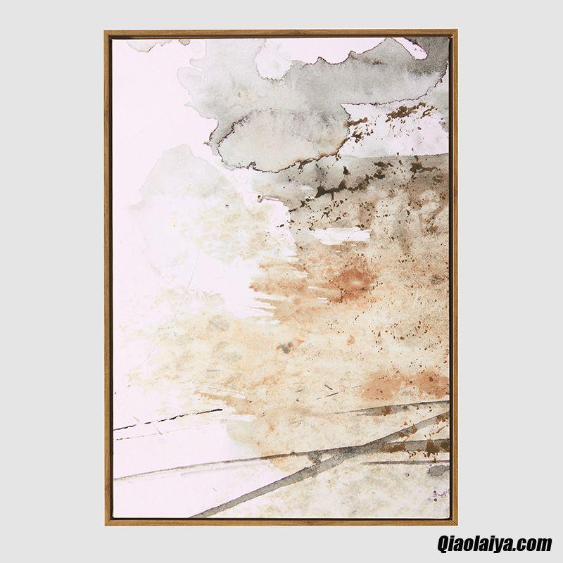 Décorations Murales Salle De Séjour Mur De Fond Chambre Moderne Peintures De Triptyque Ambre Pas Cher Soldes