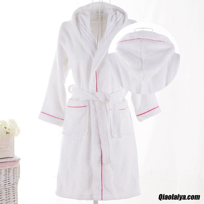 e953c0b5de405 Textile De Maison Coton Chemise De Nuit Doux Peignoir Enfant Noir