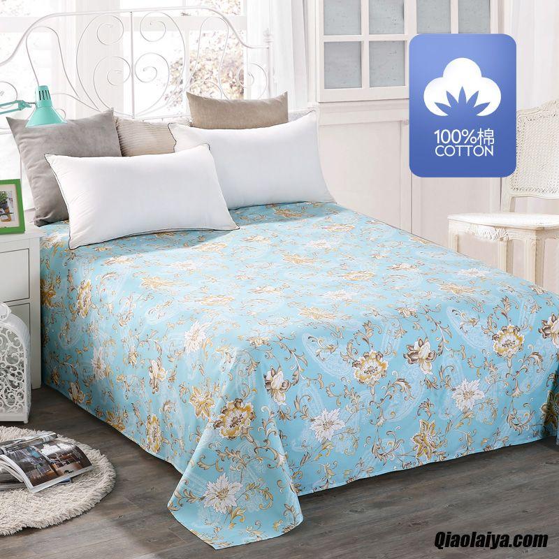 unique coton gros m tre drap cyan textile de maison pas cher. Black Bedroom Furniture Sets. Home Design Ideas