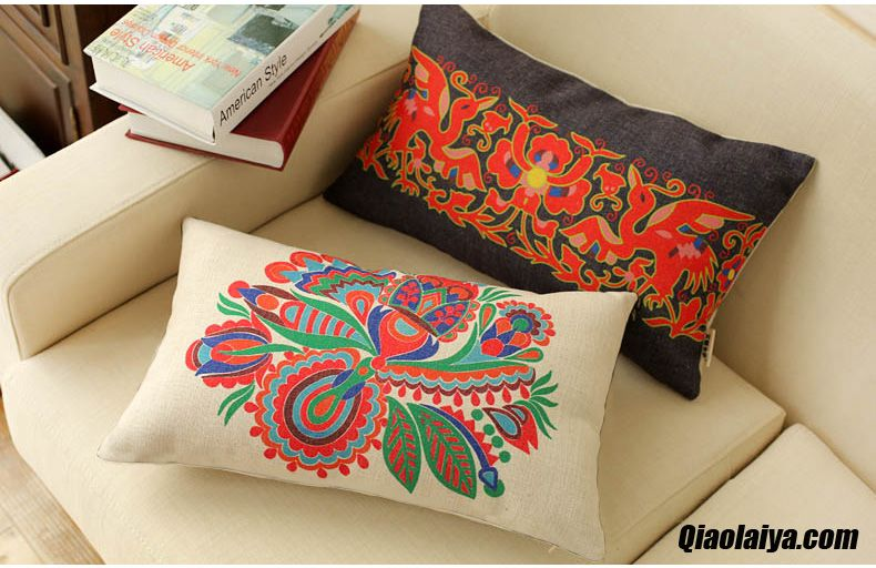 Textile de maison oreiller style chinois bureau oreiller taille