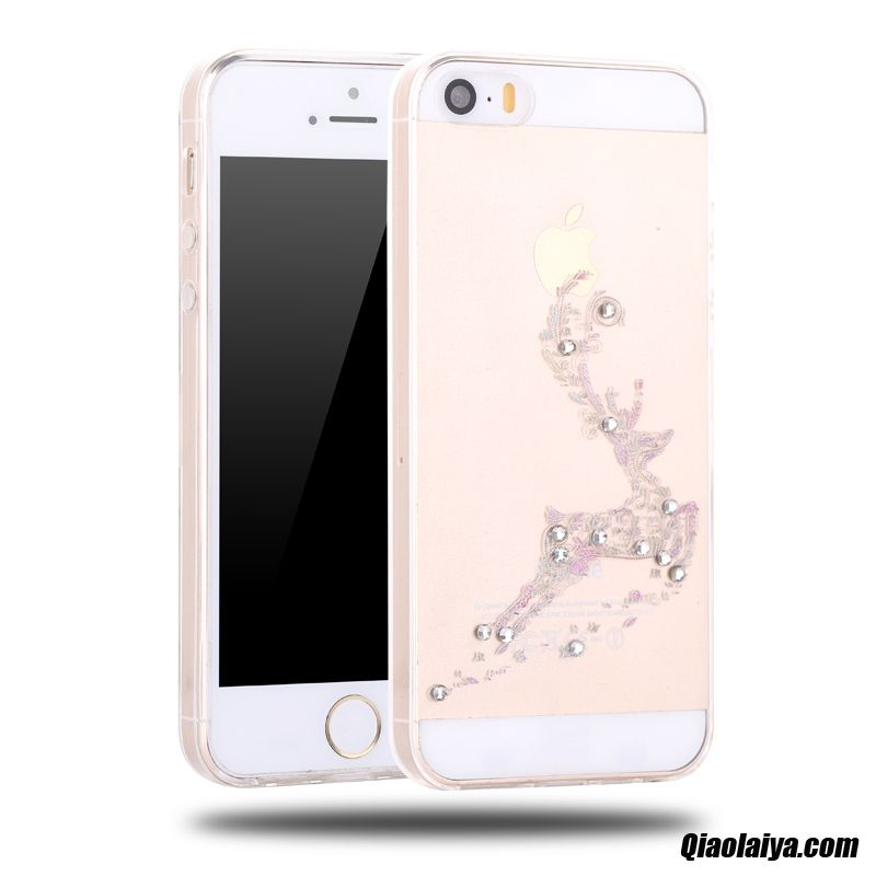 coque iphone 5 5s silicone personnalisable d 39 or housse. Black Bedroom Furniture Sets. Home Design Ideas
