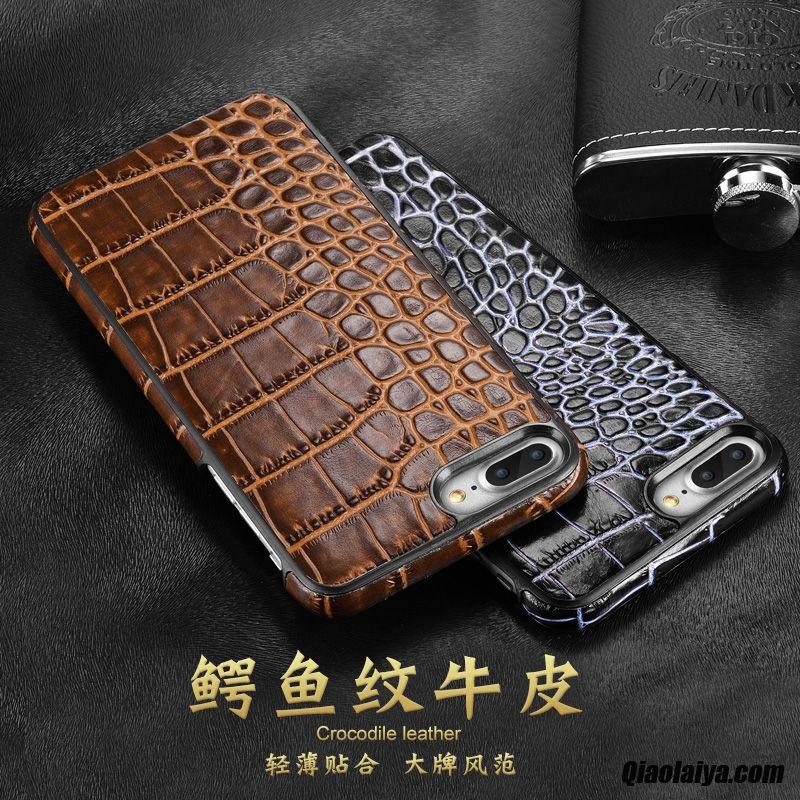 coque iphone 7 plus leather