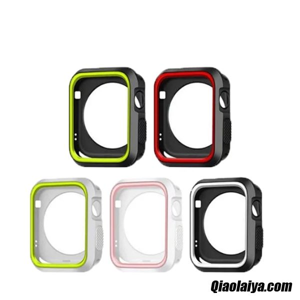Coque Pour Apple Watch Series 5 Pas Cher, Housse Silicone Apple Watch Series 5 Le Gel De Silice, Etui Magasin De Coque Bordeaux