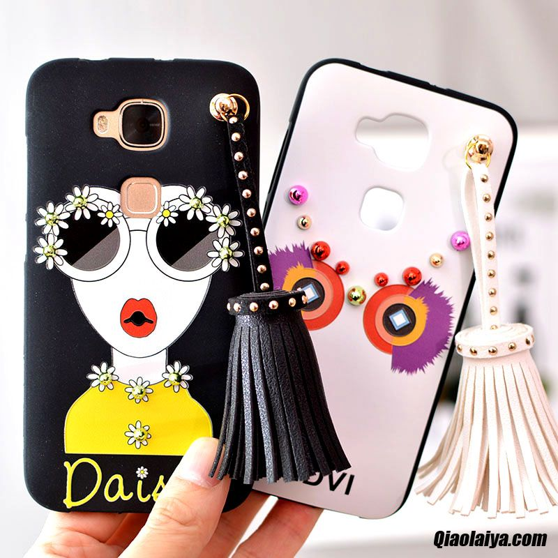 Coque Pour Huawei G8, Housse Smartphone Huawei Porcine, Tel Mobile Pas Cher Brun