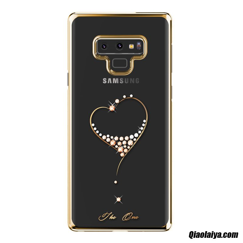 Coque Pour Samsung Galaxy Note 9 Soldes, Samsung Galaxy Note 9 Protection Silicone, Housse Coque Personnalisé Noir