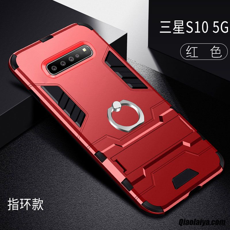 Coque Pour Samsung Galaxy S10 5g Soldes, Housse Accessoires Marine, Etui Protection Samsung Galaxy S10 5g Thick Housse Encuir