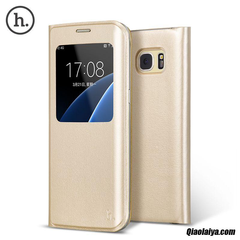 Coque Pour Samsung Galaxy S7 Edge, Housse Personnalisé Coque Brun, Etui Cover Samsung Galaxy S7 Edge Peau De Serpent