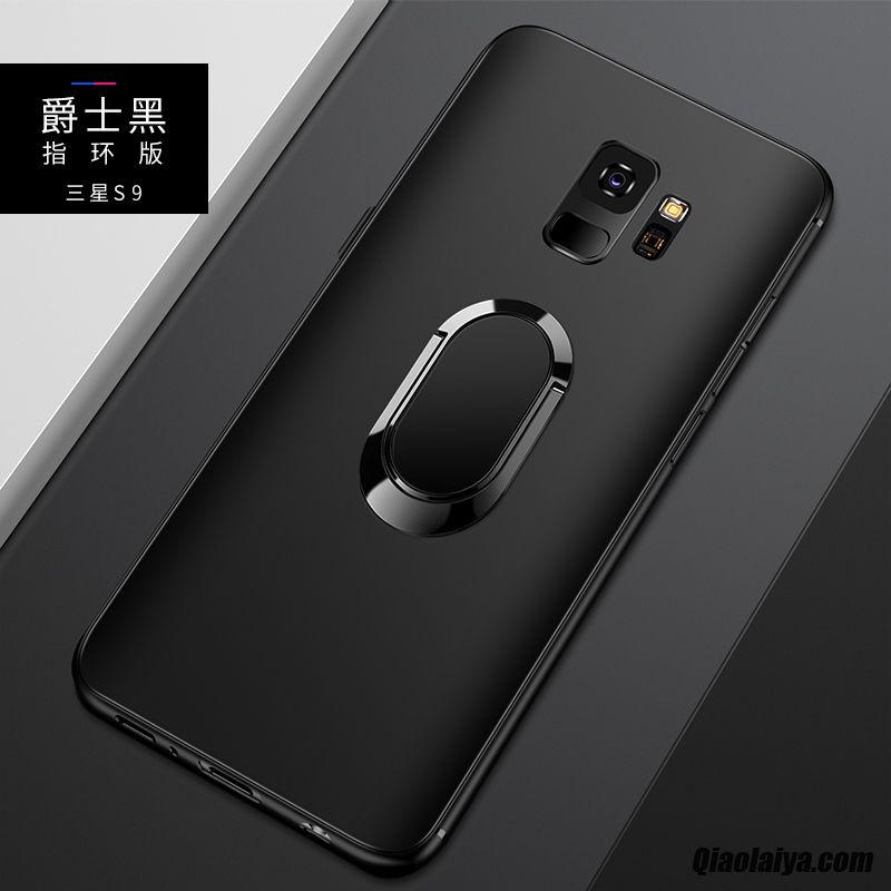 2a03c65f6e487 Coque Pour Samsung Galaxy S9, Accessoires Mobile Brun, Etui Protection  Samsung Galaxy S9 Cuir