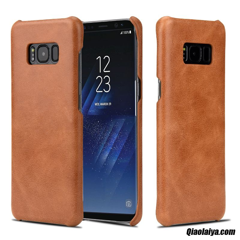 Coque protection samsung galaxy s8 etui rigide en cuir for Housse samsung s8