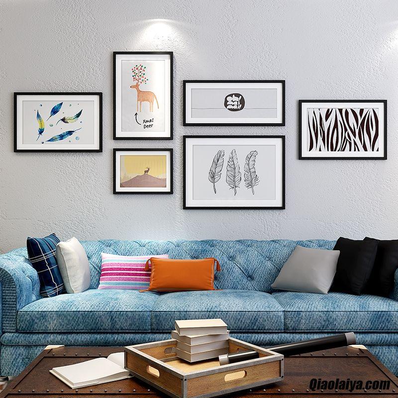 d corations murales salle de s jour tableau d coratif peintures murales mur de fond moderne marine. Black Bedroom Furniture Sets. Home Design Ideas