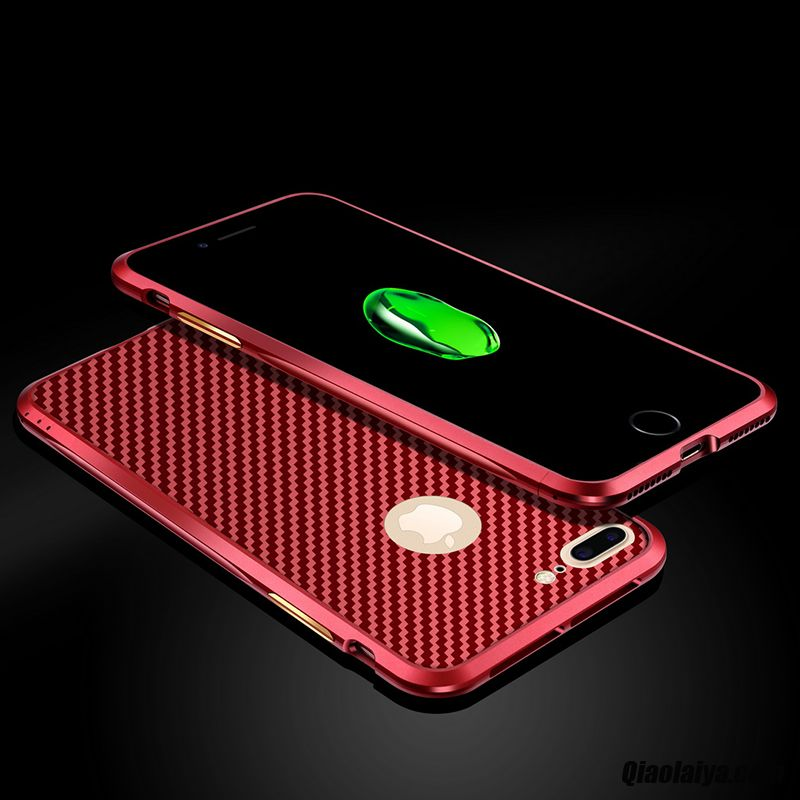 coque iphone 7 plus rouge cuir