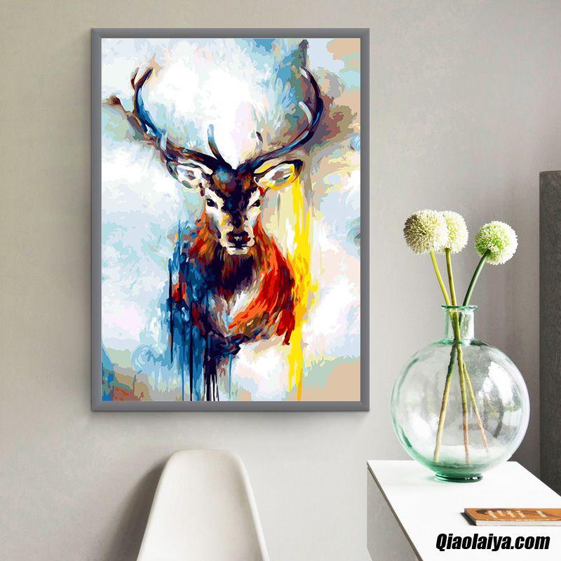 tableau d coratif la peinture peinture l 39 huile abstrait. Black Bedroom Furniture Sets. Home Design Ideas